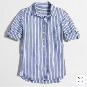 J. Crew small stripe pocket popover shirt